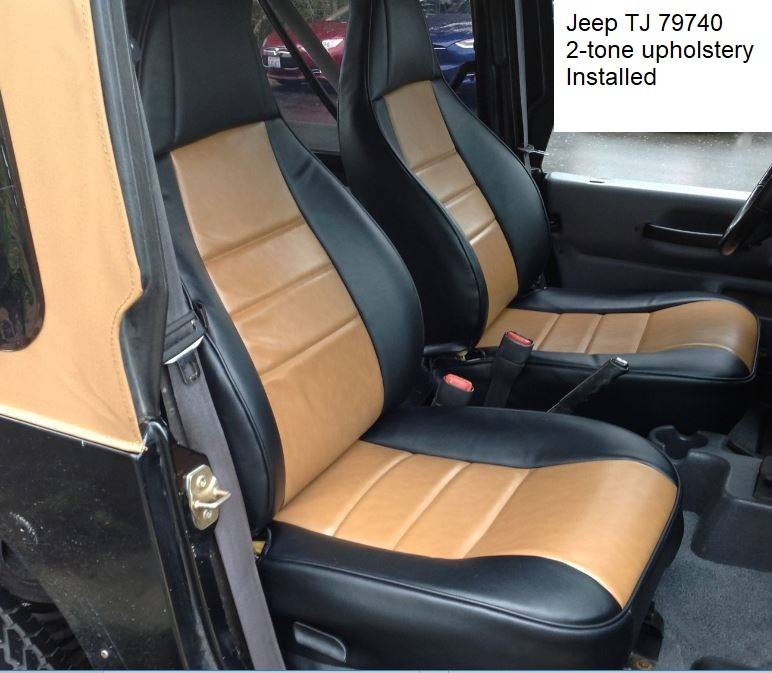 Bucket Seat Covers >> JEEP TJ Wrangler 1997-2002 Upholstery kit for Front Bucket ...