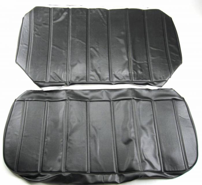 Seatz Manufacturing - IN STOCK HOT DEAL! FORD PICKUP 1967-1972 BENCH SEAT UPHOLSTERY KIT: OPEN BACK CHANNEL DESIGN, VINYL * BLACK