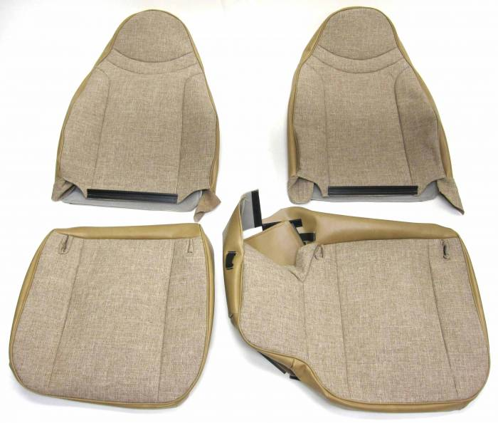 Seatz Manufacturing - IN STOCK HOT DEAL! FORD RANGER PICKUP 1998-2002 60/40 FRONT BUCKETS SEAT UPHOLSTERY KIT:  * TAN TWEED/VINYL