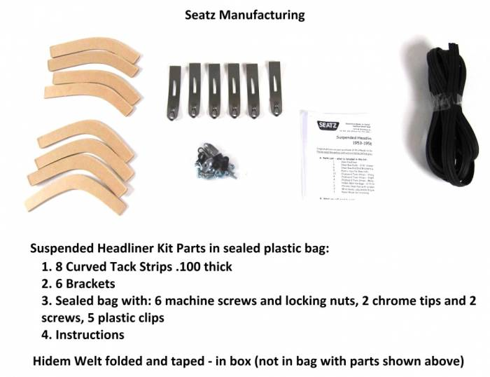 Seatz Manufacturing - Suspended Headliner Ford Pickup 1953-1956 Parts