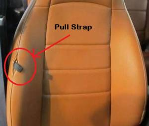 pull strap opening position