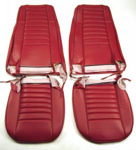Seatz Manufacturing - IN STOCK HOT DEAL! JEEP CJ 1979-1990 Upholstery kit for High Back Front Bucket seats * Dk Red