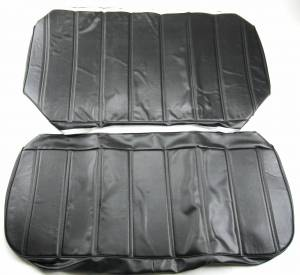 OUTLET - Seatz Manufacturing - IN STOCK HOT DEAL! FORD PICKUP 1967-1972 BENCH SEAT UPHOLSTERY KIT: OPEN BACK CHANNEL DESIGN, VINYL * BLACK