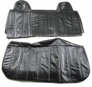 Seatz Manufacturing - IN STOCK HOT DEAL! FORD PICKUP F150 1992-1998 BENCH SEAT UPHOLSTERY KIT: INTEGRATED HEADRESTS, CLOSED BACK, ALL VINYL * BLACK