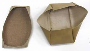 Seatz Manufacturing - IN STOCK HOT DEAL! FORD RANGER PICKUP 1998-2002 60/40 FRONT BUCKETS SEAT UPHOLSTERY KIT:  * TAN TWEED/VINYL - Image 4