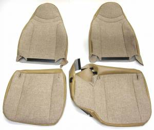 In-Stock Hot Deals - Seatz Manufacturing - IN STOCK HOT DEAL! FORD RANGER PICKUP 1998-2002 60/40 FRONT BUCKETS SEAT UPHOLSTERY KIT:  * TAN TWEED/VINYL