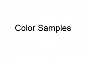Buy Color Samples