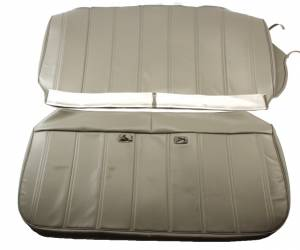 OUTLET - Seatz Manufacturing - IN STOCK HOT DEAL! FORD PICKUP 1973-1979 BENCH SEAT UPHOLSTERY KIT: OPEN BACK CHANNEL DESIGN, ALL VINYL * Lt Grey