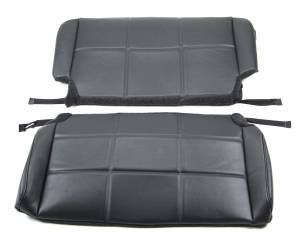Jeep CJ, YJ, TJ, Jeepster, Comanche - Seatz Manufacturing - JEEP TJ Wrangler 2-Tone 1997-2002 Upholstery kit for Rear Bench seat